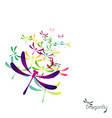 beautiful icon dragonfly vector image