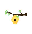 beehive on a branch vector image