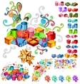 big collection of gift boxes vector image vector image