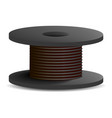 black cable coil icon realistic style vector image vector image