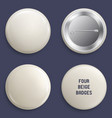 blank beige glossy badges or web buttons vector image vector image