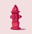 cartoon fireplug flat urban vector image