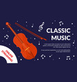 classical music festival event flyer acoustic vector image vector image