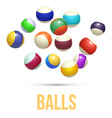 colorful striped balls 3d spheres balls isolated vector image vector image