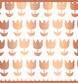 copper foil tulip flower seamless pattern vector image vector image
