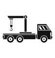 crane truck icon simple style vector image