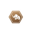 cute elephant with hose up and horns logo design vector image