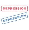 Depression textile stamps