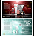 digital red and blue skin care cream vector image vector image