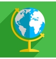 Earth globe flat icon vector image vector image
