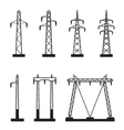 Electrical transmission tower types vector image