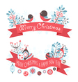 Elegant Christmas greeting banners vector image vector image