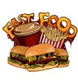 Fast food elements for design vector image