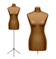 Female tailors dummy mannequin vector image