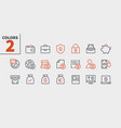 financial pixel perfect well-crafted thin vector image vector image