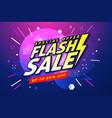 flash sale banner template design vector image vector image