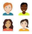 flat of women of different nationalities diversity vector image vector image