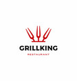 grill king fork logo icon vector image vector image