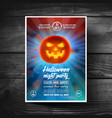 halloween party flyer or leaflet covers banners vector image