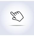 hand cursor vector image vector image