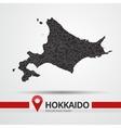 Hokkaido map vector image vector image