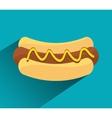 Hot dog fast sport design vector image vector image