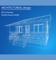 house wireframe structure vector image vector image