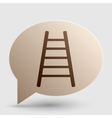Ladder sign Brown gradient icon on vector image