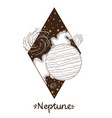 landscape of planet rhombus neptune vector image vector image