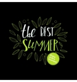 Lettering summer quote at black vector image vector image