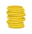 Lucky gold coin icon vector image