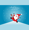merry christmas and happy new year with santa vector image vector image