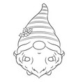 merry christmas cute gnome sketch vector image vector image