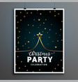 merry christmas party flyer design with creative vector image