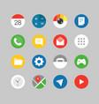 modern smartphones ui kit different application vector image vector image