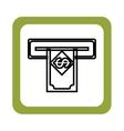 money dispenser hole icon vector image