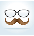 Mustache and Glasses vector image vector image