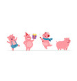 new year pigs - modern cartoon characters vector image vector image