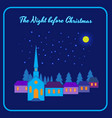 night before christmas vector image vector image