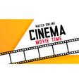 online digital cinema movie time background vector image