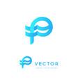 p logo letter p icon initials monogram creative vector image vector image