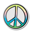 peace sign emoji sticker emoticon vector image