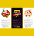 pizza house and restaurant vector image