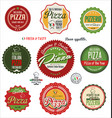pizza retro labels vector image vector image