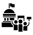 political election meeting icon simple style vector image