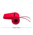 Red Whistle of The Republic of Albania vector image vector image