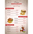 Restaurant vertical color menu vector image