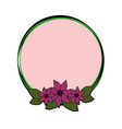round frame with flowers vector image vector image