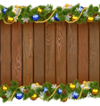 Seamless Christmas Board with Golden Beads vector image vector image