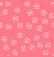 seamless pattern with kawaii pigs vector image